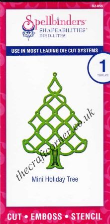 Mini Holiday Tree Spellbinders Shapabilities Die D-Lites (S2-055)